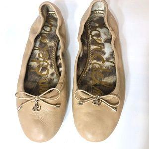 Sam Edelman 7M Tan Leather Felicia Ballet Flats
